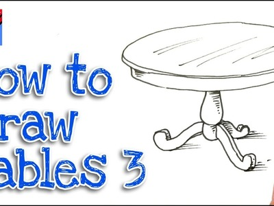 How to Draw a Round Dining Table Real Easy - Step by Step #3