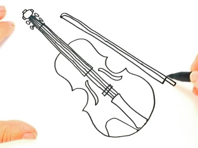 How to draw a Violin | Violin Easy Draw Tutorial