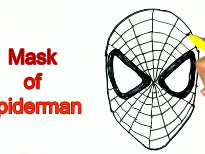How to draw Spiderman's Mask- in easy steps for children. beginners