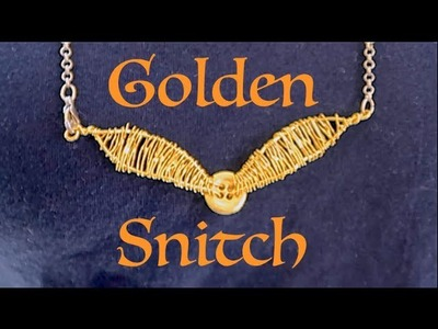How To Make A Golden Snitch Necklace!!! Super Easy!