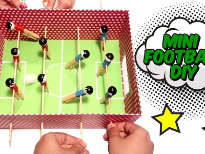 How to make a mini football with a box - Cardboard DIYs and Crafts