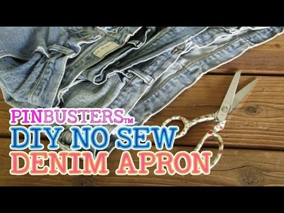 How To Make A No Sew Denim Apron. DOES THIS REALLY WORK?