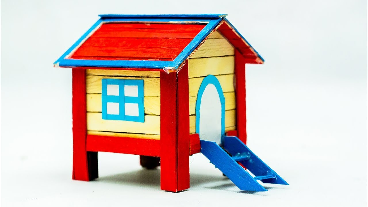 How To Make A Popsicle Stick House Very Easy