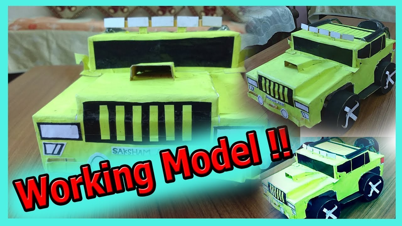 How to make a WORKING Model of a Car [Easy Tutorial] by- Saksham AK47