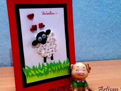 How to make an easy Valentine's Day Card  Paper Quilling Greeting Card