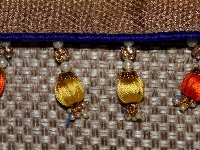 How to make Beads Saree Kuchu