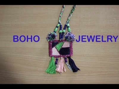 HOW TO MAKE BOHEMIAN JEWELLRY ( PART-1 ) | FABRIC JEWELLERY | BOHO JEWELLERY MAKING | DIY NECKLACE