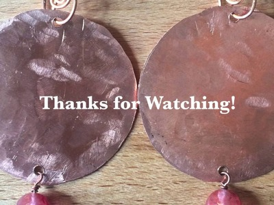 How to make Copper Disc Earrings