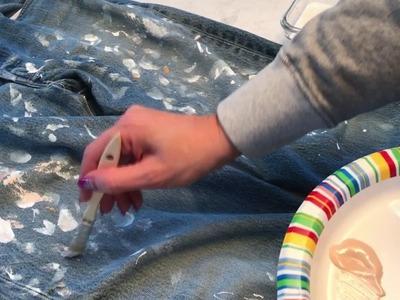 HOW TO: Make Custom Paint Splatter Jeans (just like Jcrew!).