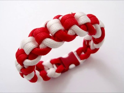 "How to make ""Ecstatic"" paracord bracelet with buckle"
