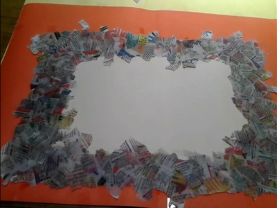 How to make front page of school project using newspaper.