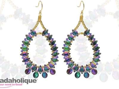 How to Make the Cabaret Earrings with 2-Hole GemDuos and Pip Beads