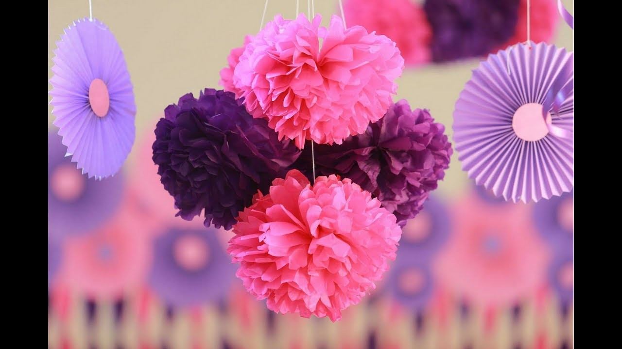 How to make-Tissue Paper Flowers Easy | Decorations for Baby Shower | Party decorations | Craftastic