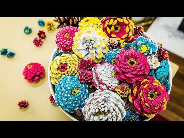 How To - Paige Hemmis' Pine Cone Flowers - Hallmark Channel