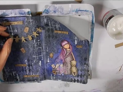 """How to use a gorjuss stamp in your art journal """" Dear Alice"""""""