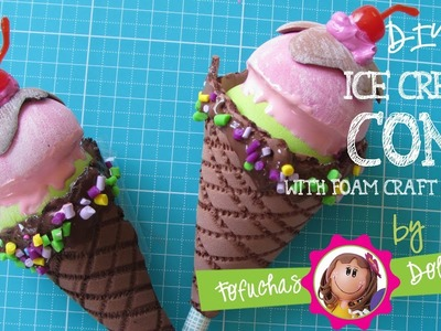 Ice Cream Cone - DIY Fun Craft Foam Sheets