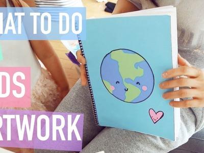 Kawaii DIY: DIY Scrapbook Tutorial for Kid's Artwork | Quick simple Scrapbook for Kids