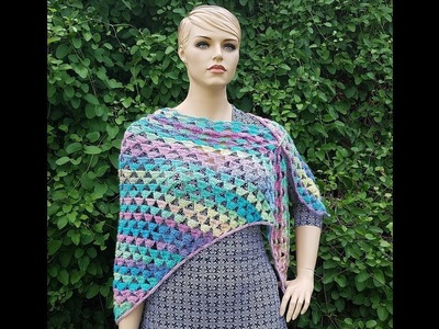 Learn How To Crochet The Cool Summer Nights Shawl TUTORIAL #398