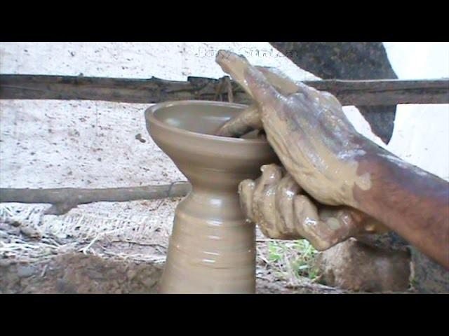 Making a clay diya HD  (Diwali )