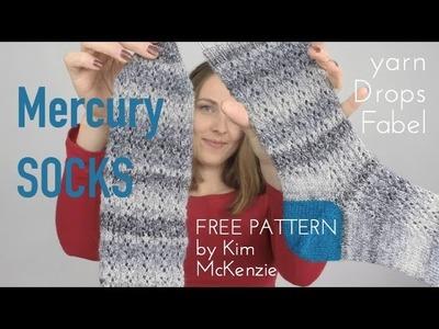 Mercury Socks free pattern by Kim McKenzie   Drops Fabel yarn | knitting