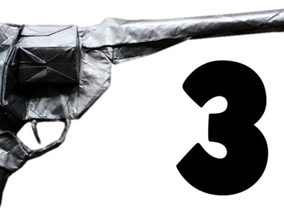 Origami Revolver.Peacemaker Tutorial (Morisue Kei) Part 3.3 - Shaping