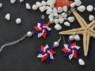 PandaHall Video Tutorial on Making Two-hole Seed Bead Flower Jewelry Set