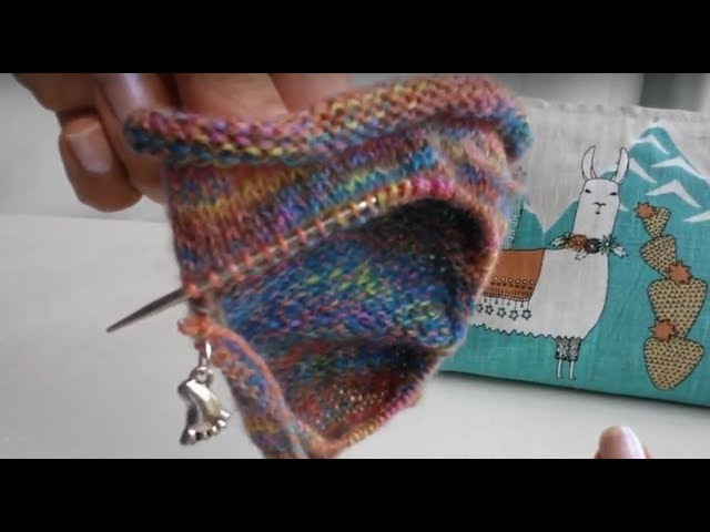Part 4 Rose City Rollers sock knitting tutorial Picking up stitches