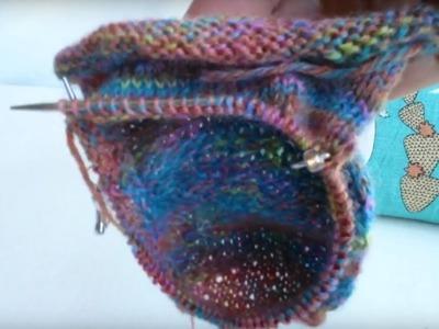 Part 5 Rose City Roller Sock knitting tutorial- Gusset