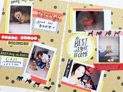Polaroid Scrapbook Fujifilm Instax | Puppy's First Day Home!