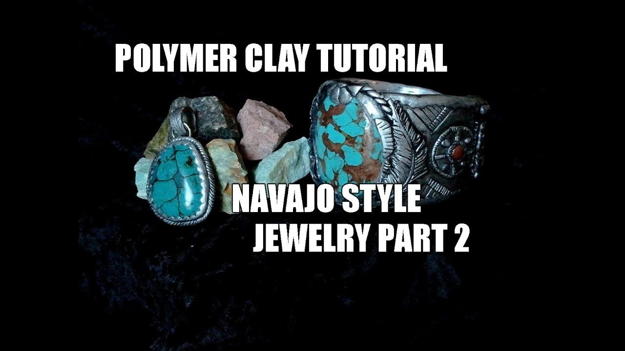 Polymer clay tutorial - Navajo style jewelry part 2