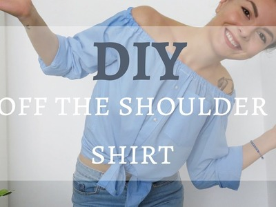 QUICK & EASY DIY - Off Shoulder Shirt from Men's Shirt