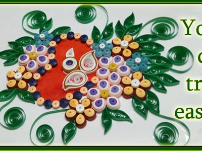 Quilling - How to make a Birthday Gift Greeting Card | Paper Quilling Design | Quilling Paper