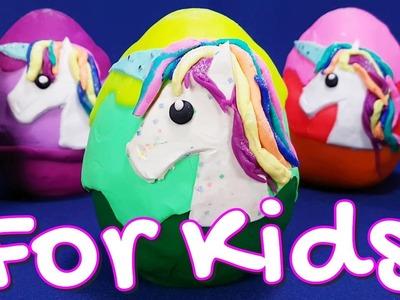 Rainbow Unicorns Schleich ???? Play Doh Pony Surprise Eggs - top best video for kids