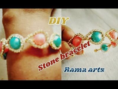 Stone bracelet - How to make stone bracelet   jewellery tutorials