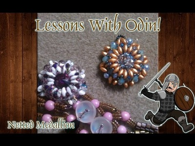 Superduo Beaded Rivoli Pendant Jewelry Making Tutorial - Lessons With Odin