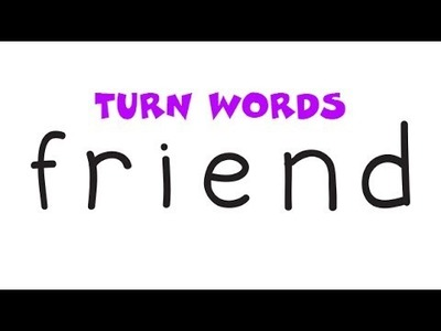 Very Easy Wordtoon ! How To Turn Words FRIEND into A Cartoon – Drawing for Kids