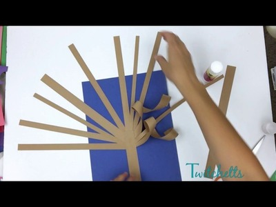 3D Paper Tree - Construction Paper Crafts for Kids