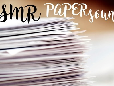 ASMR Amazing PAPER sounds * CRINCkLE, ripping and cutting paper with scissors