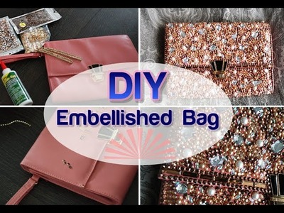 BLING MY BAG DIY Embellished Evening wedding Clutch | Indian Purse Tumblr Crafts
