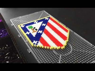 Club Atlético de Madrid FAN ART Perler. Hama Beads Pixel Art