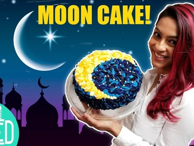 Crescent Moon Cake | Multicoloured Buttercream Rosettes | Eid.Ramadan Party Ideas | DIY & How to