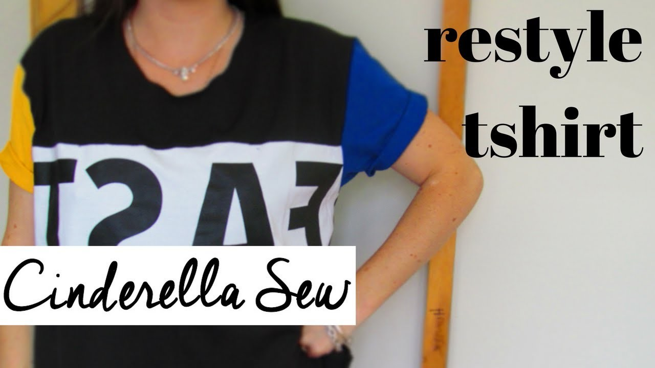 Cut collar off tshirt and make it shorter - How to restyle t-shirts - Easy DIY shirt cutting