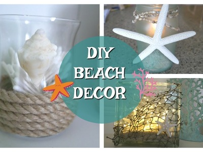 DIY BEACH DECOR | DIY SUMMER DECOR | SEASHELL COASTAL