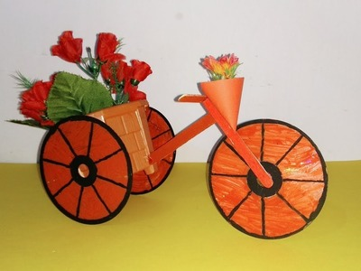 DIY Bicycle Using CD And Popsicle Stick || Best Out of Waste.