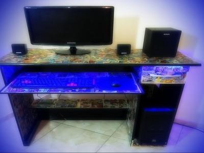 DIY Como Renovar uma Mesa de Computador