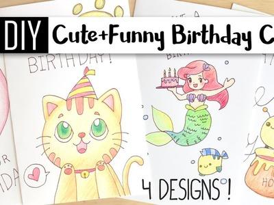 DIY Cute & Funny Birthday Cards – 4 Puns. Doodle Card Ideas!