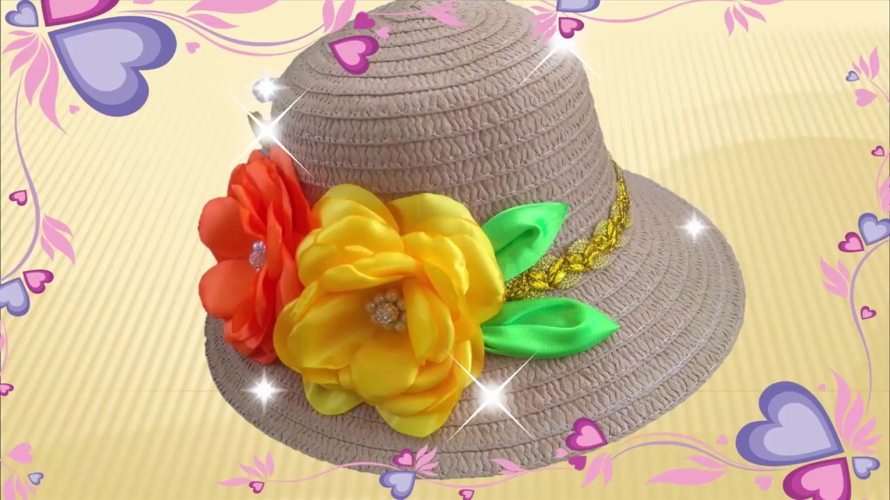 Diy Decoracion De Sombrero Con Flores En Tela How To Decorate Hat