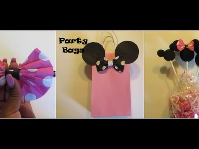 DIY: DOLLAR TREE MINNIE MOUSE BIRTHDAY PARTY IDEAS!!!!!!