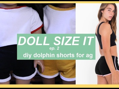 DIY DOLPHIN SHORTS FOR AMERICAN GIRL DOLLS | How to Make AG Doll Clothes | Doll Size It ep.2