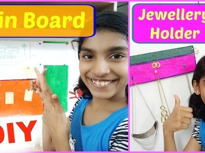 DIY | Easy and Cheap Pin Board | Necklace Holder with easily available and less materials.
